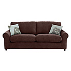more details on HOME Tessa Large Fabric Sofa - Chocolate.