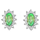 more details on 18ct Gold Plated Silver Emerald Diamond Earrings.