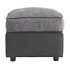 more details on Collection Rhiannon Fabric Footstool - Black and Silver.