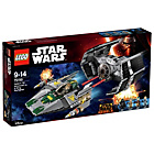 more details on LEGO Star Wars Vadars Tie Advanced Vs A Wing - 75150.