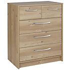 more details on Collection Tilbury 3 + 2 Drawer Chest - Oak Effect.