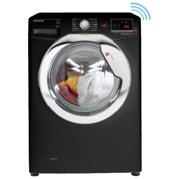 buy hoover dxoc69c3b 9kg 1600 spin one touch washing. Black Bedroom Furniture Sets. Home Design Ideas