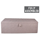 more details on Extra Large Buttoned Linoso Ottoman - Slate Grey.