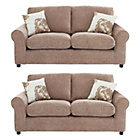 more details on HOME Tessa Regular and Regular Fabric Sofa - Mink.