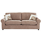more details on HOME Tessa Large Fabric Sofa - Mink.
