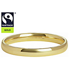 more details on Fairtrade 9ct Gold 2mm D-Shape Wedding Ring-K.