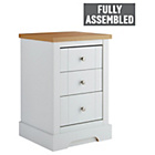 Heart of House Westbury 3 Drawer Bedside Chest - White