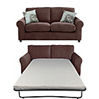 more details on HOME Tessa Fabric Sofa Bed and Regular Sofa - Chocolate.