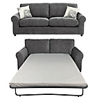 more details on HOME Tessa Large Fabric Sofa and Sofa Bed - Charcoal.