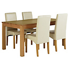 more details on Collection Burford Extendable Table and 4 Cream Chairs.
