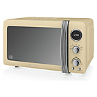 more details on Swan SM22030CN Standard Microwave - Cream.