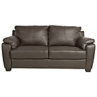 more details on HOME Antonio 2 Seater Leather/Leather Eff Sofa - Chocolate.