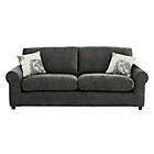 more details on HOME Tessa 3 Seater Fabric Sofa - Charcoal.