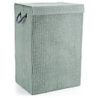 more details on Minky Check Laundry Hamper - Grey.