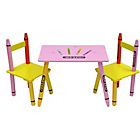 more details on Bebe Style Crayon Table and Chair Set - Pink.