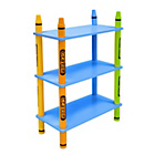 more details on Bebe Style Crayon 3 Tier Shelves - Blue.