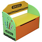 more details on Bebe Style Crayon Toy Box and Bench - Green.