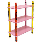 more details on Bebe Style Crayon 3 Tier Shelves - Pink.