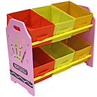 more details on Bebe Style Crayon 6 Bin Storage - Pink.