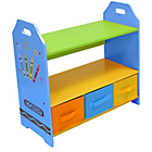more details on Bebe Style Crayon Shelves and Storage - Blue.
