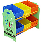 more details on Bebe Style Crayon 6 Bin Storage - Green.