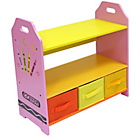 more details on Bebe Style Crayon Shelves and Storage - Pink.