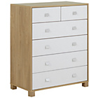 more details on Ultimate Sleeper 4 + 2 Drawer Chest - Two Tone.