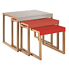 more details on Habitat Kilo Nested Tables - Grey, Orange and Red.