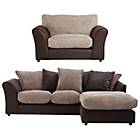 more details on HOME New Bailey Reg Right Corner Sofa and Snuggle Chair -Nat