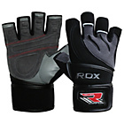 more details on RDX Leather Weight Lifting Gloves with Strap
