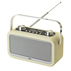 Bush Leather Look DAB Radio - Cream