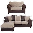 more details on HOME New Bailey Large Left Corner Sofa and Snuggle Chair-Nat