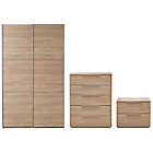 more details on Hygena Bergen 3 Piece Medium Wardrobe Package - Oak Effect.