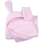 more details on Claire De Lune Honeycomb Hooded Ear Blanket - Pink.
