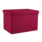 more details on HOME Large Fabric Ottoman - Fuschia.