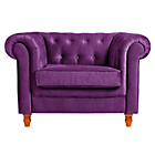 more details on Collection Chesterfield Fabric Chair - Plum.
