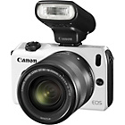 more details on Canon EOS M 18MP Digital SLR Camera - White.