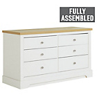 more details on Heart of House Westbury 6 Drawer Chest - White.