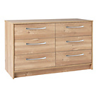 more details on Collection Tilbury 3 + 3 Drawer Chest - Oak Effect.
