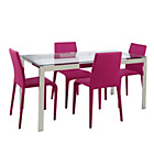 more details on Hygena Harbour Table and 4 Pink Chairs.
