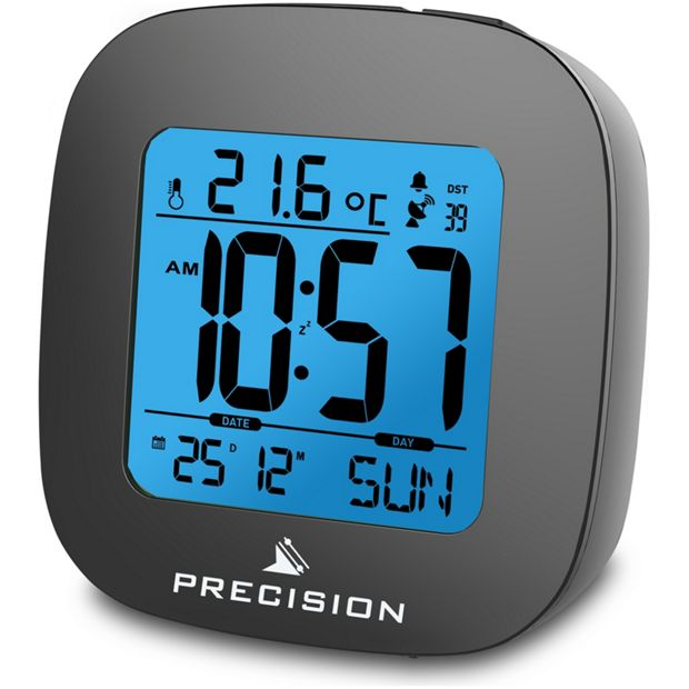 buy precision radio controlled lcd alarm clock at your online shop for clocks. Black Bedroom Furniture Sets. Home Design Ideas