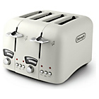 more details on De'Longhi Argento 4 Slice Toaster - Cream.