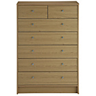 more details on New Malibu 5 + 2 Chest of Drawers - Oak.