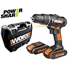 more details on Worx 20V Li-Ion Hammer Drill with 2 Batteries.