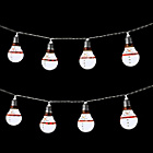 more details on The Christmas Workshop 10 LED Snowman String Lights - White.