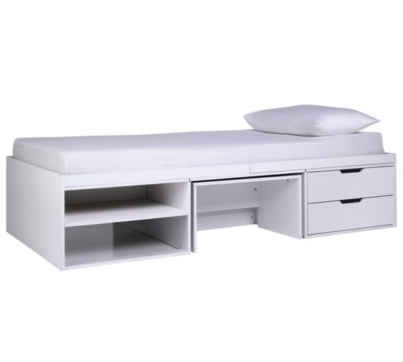 Buy Home Callum Cabin Bed Pull Out Desk Ashley Mattress