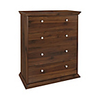 more details on HOME Canterbury 4 Drawer Wide Chest of Drawers - Walnut.
