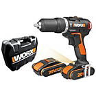 more details on Worx 20V 1.5Ah Brushless Hammer Drill with 2 Batteries.