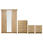 more details on Collection Truro 4 Pc Bedroom Furniture Package - Oak Effect