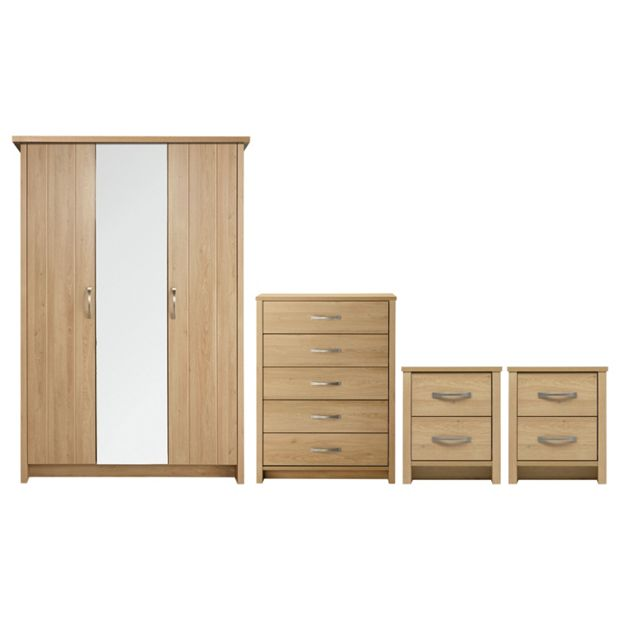 Buy collection truro 4 pc bedroom furniture package oak effect at your online Buy home furniture online uk